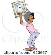 Cartoon Black Woman Hanging A Dog Picture