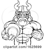 Viking Tennis Sports Mascot