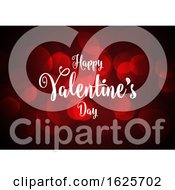 Poster, Art Print Of Valentines Day Background With Bokeh Lights