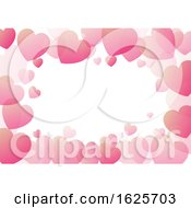 Poster, Art Print Of Valentines Day Background With Hearts Border