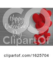 Poster, Art Print Of Valentines Day Background With Hearts On Wood