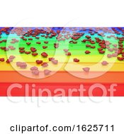 Poster, Art Print Of Hearts On Rainbow Background