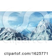 3D Snowy Mountain Range