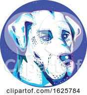 Labrador Retriever Dog Doodle Circle