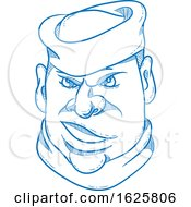 Angry Sailorman Head Cartoon