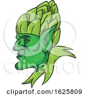 Green Elf Wearing Hops On Head Drawing by patrimonio