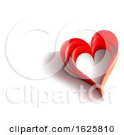 Poster, Art Print Of Background With Red Paper Hearts