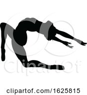 Ballet Dancer Silhouette Set by AtStockIllustration