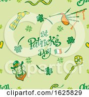 St Patricks Day Pattern Design On Green by Zooco