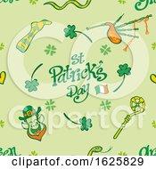 St Patricks Day Pattern Design On Green