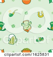 Seamless St Patricks Day Pattern Background