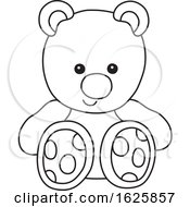 Black And White Toy Teddy Bear