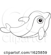 Black And White Toy Dolphin
