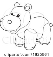 Black And White Toy Hippo