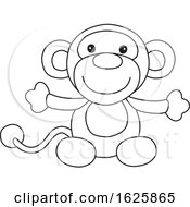 Black And White Monkey Toy
