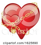 Poster, Art Print Of Red Valentines Day Hearts With Chains