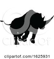 January 24th, 2019: Rhino Animal Silhouette by AtStockIllustration