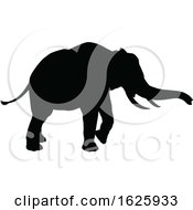 January 24th, 2019: Elephant Safari Animal Silhouette by AtStockIllustration