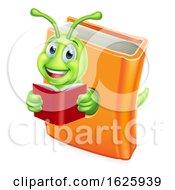 Bookworm Caterpillar Worm In Book Reading
