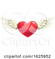 Valentines Day Winged Heart by Vector Tradition SM
