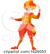 Presenting Circus Clown by Vector Tradition SM