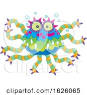 Poster, Art Print Of Colorful Monster