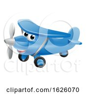 Airplane Cartoon Character by AtStockIllustration