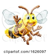 Honey Bee 8 Bit Pixel Game Art Cartoon Character