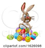 Poster, Art Print Of Easter Bunny Pixel Art 8 Bit Game Cartoon