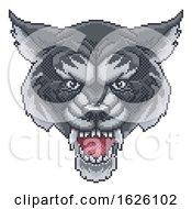 Poster, Art Print Of Wolf Pixel Art Arcade Game Cartoon Mascot