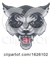 Wolf Pixel Art Arcade Game Cartoon Mascot