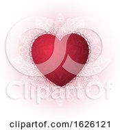 Poster, Art Print Of Decorative Heart Background