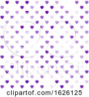 Poster, Art Print Of Hearts Pattern Background