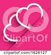 Poster, Art Print Of Pink Valentines Day Hearts Background