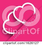 Pink Valentines Day Hearts Background