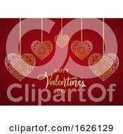 Valentines Day Background With Decorative Hearts