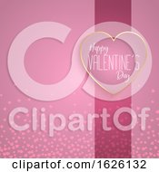 Valentines Day Background With Heart Design