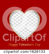 Poster, Art Print Of Valentines Day Background With Heart On Luxury Texture