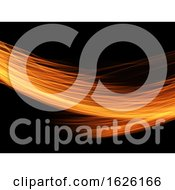 Abstract Background Of Fiery Flowing Lines