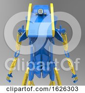 Poster, Art Print Of 3d Generative Design Of A Robot - 3d Illustration