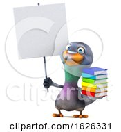 3d Pigeon, on a White Background by Julos #COLLC1626331-0108