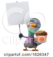 3d Pigeon, on a White Background by Julos #COLLC1626347-0108