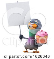 3d Pigeon, on a White Background by Julos #COLLC1626348-0108