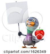 3d Pigeon, on a White Background by Julos #COLLC1626349-0108