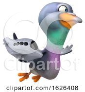 03/24/2019 - 3d Pigeon On A White Background
