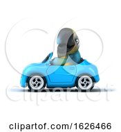 3d Blue And Yellow Macaw Parrot On A White Background
