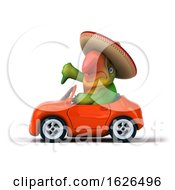 3d Green Macaw Parrot On A White Background