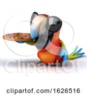 3d Scarlet Macaw Parrot On A White Background