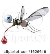 Poster, Art Print Of 3d Mosquito On A White Background