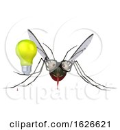 03/24/2019 - 3d Mosquito On A White Background